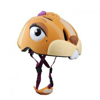 Шлем CHIPMUNK (коричневый)Одежда<br>Материал:<br>Верх: пластик<br>Подкладка: вспененный материал<br>Сертификат безопасности: CE EN 1078: 2012 + A1 :2012<br>Описание:<br>Яркий, легкий и прочный шлем для девочек датского бренда crazy safety. Выполнен по запотентованной 3D технологии в форме сказочного животного. Регулируется по обхвату головы от 49 см до 55 см при помощи мягких, прочных ремешков. Качественный пенопласт обеспечит защиту головы от удара. Аэродинамические вентеляционные отверстия и съемная подушка подбородка  создадут комфорт. Яркая расцветка и интегрированный светодиодный фонарик сзади сделают ребенка заметнее как в светлое, так и в темное время суток.<br>Производитель: Crazy Safety (Дания)<br>Страна производства:Китай<br>Регулируемый размер: 49-55<br>Коллекция: Весна/Лето 2016.; Размеры в наличии: б/р.<br>