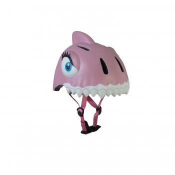 Шлем Pink Shark (розовый)Одежда<br>Материал: <br>Верх: пластик<br>Подкладка: вспененный материал<br>Сертификат безопасности: CE EN 1078: 2012 + A1 : 2012<br>Описание: <br>Яркий, легкий и прочный шлем для девочек датского бренда crazy safety. Выполнен по запотентованной 3D технологии в форме сказочного животного. Регулируется по обхвату головы от 49 см до 55 см при помощи мягких, прочных ремешков. Качественный пенопласт обеспечит защиту головы от удара. Аэродинамические вентеляционные отверстия и съемная подушка подбородка  создадут комфорт. Яркая расцветка и интегрированный светодиодный фонарик сзади сделают ребенка заметнее как в светлое, так и в темное время суток.<br>Производитель: Crazy Safety (Дания)<br>Страна производства: Китай<br>Регулируемый размер: 49-55<br>Коллекция: Весна/Лето 2017.; Размеры в наличии: б/р.<br>