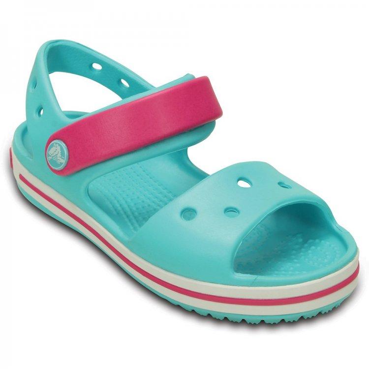 Купить Сандалии Crocband Sandal Kids (голубой с розовым), Crocs