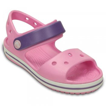 Сандалии Crocband Sandal Kids (розовый)Обувь<br>Внимание! Данная модель маломерит примерно на размер!<br> Яркие детские сандалии из уникального, запатентованного материала Croslite. Материал является бактериостатичным, то есть препятствующим росту и размножению бактерий, вызывающих запах. Преимущества оригинальной обуви Сrocs: очень легкие и мягкие, долговечные, устойчивая нескользящая подошва, великолепное качество, простой уход. <br>Внимание! Данная модель маломерит примерно на размер!<br> Производитель: Crocs (США)<br> Страны производства: Китай, Италия, Вьетнам, США, Словения, Нидерланды<br> Коллекция: Весна/Лето 2015<br> Модель производится в размерах: С4(21), С5(22), С6(23), С7(24), С8(25), С9(26), С10(27), С11 (28), С12 (29-30), С13 (30-31), J1 (32-33), J2 (33-34), J3 (34-35)<br><br> Сабо Crocs легко моются теплой водой. При необходимости их можно стирать в стиральной машине при температуре 30 градусов<br>  <br> Croslite (крослайт) - Полимер<br>; Размеры в наличии: C4, J2, J1, C13, C12, C11, C10, C9, C8, C7, C6, C5, J3.<br>