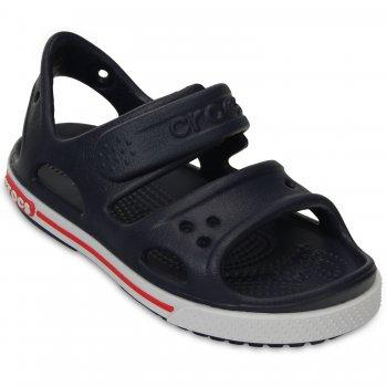 Сандалии Crocband II Sandal PS (темно-синий)Обувь<br>Материал<br>Croslite (крослайт) - Полимер<br>Описание <br>Яркие детские сандалии из уникального, запатентованного материала Croslite. Материал является бактериостатичным, то есть препятствующим росту и размножению бактерий, вызывающих запах. Преимущества оригинальной обуви Сrocs: очень легкие и мягкие, долговечные, устойчивая нескользящая подошва, великолепное качество, простой уход. <br>Производитель: Crocs (США)<br>Страны производства: Китай, Италия, Вьетнам, США, Словения, Нидерланды<br>Коллекция: Весна/Лето 2015<br>Модель производится в размерах: С4(21), С5(22), С6(23), С7(24), С8(25), С9(26), С10(27), С11 (28), С12 (29-30), С13 (30-31), J1 (32-33), J2 (33-34), J3 (34-35)<br>Уход<br>Сабо Crocs легко моются теплой водой. При необходимости их можно стирать в стиральной машине при температуре 30 градусов; Размеры в наличии: C4, J2, J3, C13, C12, C11, C10, C9, C8, C7, C6, C5, J1.<br>