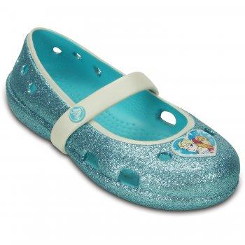 Купить Балетки Frozen Flat (голубой), Crocs