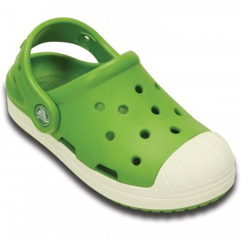Сабо Crocs Bump It Clog K (зеленый)Обувь<br>Материал<br>Croslite (крослайт) - Полимер<br>Описание <br>Яркие сабо из уникального, запатентованного материала Croslite. Материал является бактериостатичным, то есть препятствующим росту и размножению бактерий, вызывающих запах. Преимущества оригинальных сабо Сrocs: очень легкие и мягкие, долговечные, устойчивая нескользящая подошва, великолепное качество, простой уход. <br>Производитель: Crocs (США)<br>Страны производства: Китай, Италия, Вьетнам, США, Словения, Нидерланды<br>Коллекция: Весна/Лето 2016<br>Модель производится в размерах: C4/C5 (21-22),  C6/C7 (23-24),  C8/C9 (25-26),  C10/C11 (27-28),  C12/C13(29-30),  J1 (32-33) J2 (33-34); Размеры в наличии: C6, C7, C8, C10, C11, C12, C13, J1, J2.<br>