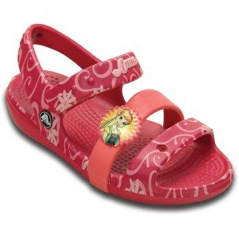 Сандалии Keeley Frozen Fever Sandal K (фуксия)Обувь<br>Материал<br>Croslite (крослайт) - Полимер<br>Описание <br>Яркие детские сандалии из уникального, запатентованного материала Croslite. Материал является бактериостатичным, то есть препятствующим росту и размножению бактерий, вызывающих запах. Преимущества оригинальных сабо Сrocs: очень легкие и мягкие, долговечные, устойчивая не скользящая подошва, великолепное качество, простой уход. <br>Производитель: Crocs (США)<br>Страны производства: Китай, Италия, Вьетнам, США, Словения, Нидерланды<br>Коллекция: Весна/Лето 2015<br>Модель производится в размерах: С4(21), С5(22), С6(23), С7(24), С8(25), С9(26), С10(27), С11 (28), С12 (29-30), С13 (30-31)<br>Уход<br>Сабо Crocs легко моются теплой водой. При необходимости их можно стирать в стиральной машине при температуре 30 градусов<br>; Размеры в наличии: C4, C12, C11, C10, C9, C8, C7, C6, C5, C13.<br>