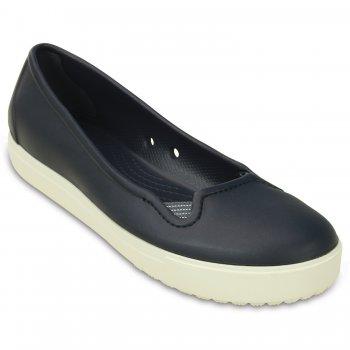 Балетки Crocs Sienna Flat W (синий с белым)Одежда<br>Материал<br>Croslite (крослайт) - Полимер<br>Описание <br>Яркие туфли из уникального, запатентованного материала Croslite. Материал является бактериостатичным, то есть препятствующим росту и размножению бактерий, вызывающих запах. Преимущества оригинальной обуви Сrocs: очень легкие и мягкие, долговечные, устойчивая нескользящая подошва, великолепное качество, простой уход. <br>Производитель: Crocs (США)<br>Страны производства: Китай, Италия, Вьетнам, США, Словения, Нидерланды<br>Коллекция: Весна/Лето 2017<br>Модель производится в размерах: W5 (34-35), W6 (36-37), W7 (37-38), W8 (38-39), W9 (39-40), W10 (41-42)<br>; Размеры в наличии: W6, W7, W8, W9, W10, W5, W11.<br>