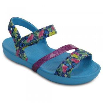 Купить Сандалии Crocs Lina Sandal (голубой с розовым)