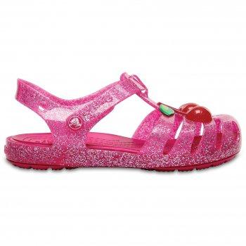 Сандалии CrocsIsabella Novelty Sandal (розовый с вишней)Обувь<br>Материал<br>Croslite (крослайт) - Полимер<br>Описание <br>Сандалии из уникального, запатентованного материала Croslite. Материал является бактериостатичным, то есть препятствующим росту и размножению бактерий, вызывающих запах. Преимущества оригинальной обуви Сrocs: очень легкие и мягкие, долговечные, устойчивая нескользящая подошва, великолепное качество, простой уход. <br>Производитель: Crocs (США)<br>Страны производства: Китай, Италия, Вьетнам, США, Словения, Нидерланды<br>Коллекция: Весна/Лето 2017<br>Модель производится в размерах: С4(21), С5(22), С6(23), С7(24), С8(25), С9(26), С10(27), С11 (28), С12 (29-30), С13 (30-31), J1 (32-33), J2 (33-34), J3 (34-35)<br>Уход<br>Сабо Crocs легко моются теплой водой. При необходимости их можно стирать в стиральной машине при температуре 30 градусов<br>; Размеры в наличии: C4, C12, C11, C10, C9, C8, C7, C6, C5, C13.<br>