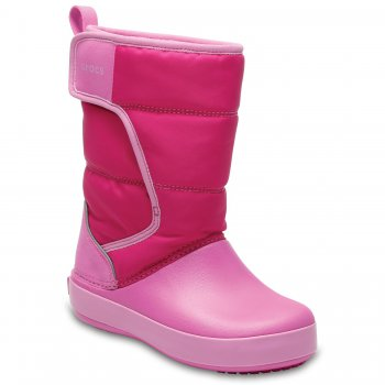 Crocs Сапоги LodgePoint Snow Boot K (розовый)