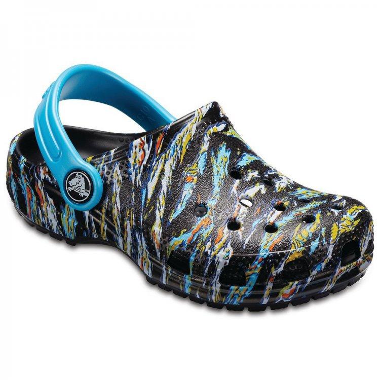 Crocs Сабо Classic Graphic Clog (синий с принтом) сабо crocs hilo lined clo