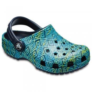 Сабо Classic  Graphic Clog (зеленый с принтом)Обувь<br>; Размеры в наличии: J3, C5, C6, C7, C8, C9, C10, C11, C12, C13, J1, J2, C4.<br>