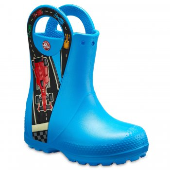 Crocs Сапоги Handle It Graphic Boot (синий с принтом)