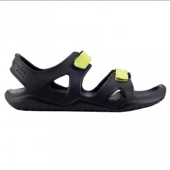 Crocs Сандалии Crocs Swiftwater River Sandals (черный с лаймом)