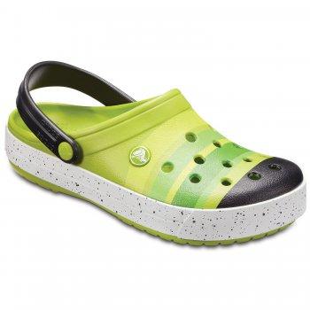 Сабо Crocband Color-Burst Clog (зеленый)Одежда<br>Описание <br>Яркие сабо из уникального, запатентованного материала Croslite. Материал является бактериостатичным, то есть препятствующим росту и размножению бактерий, вызывающих запах. Преимущества оригинальных сабо Сrocs: очень легкие и мягкие, долговечные, устойчивая нескользящая подошва, великолепное качество, простой уход. <br>Характеристики: <br>Верх: Croslite (крослайт) - Полимер<br>Производитель: Crocs (США)<br>Страны производства: Китай, Италия, Вьетнам, США, Словения, Нидерланды<br>Коллекция: Весна/Лето 2018<br>Модель производится в размерах: M4/W6 (36-37), M5/W7 (37-38), M6/W8 (38-39), M7/W9 (39-40), M8/W10 (40-41), M9/W11 (41-42).<br>Уход<br>Сабо Crocs легко моются теплой водой. При необходимости их можно стирать в стиральной машине при температуре 30 градусов; Размеры в наличии: M9/W11, M8/W10, M7/W9, M6/W8, M5/W7, M4/W6.<br>