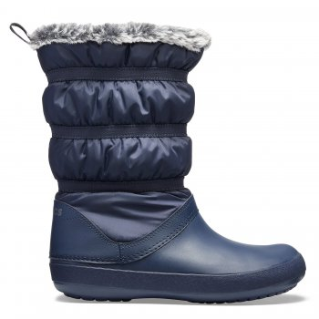Crocs Сапоги Crocband Winter Boot (синий) 2013 winter ann women wedge heel boot leather jackboot