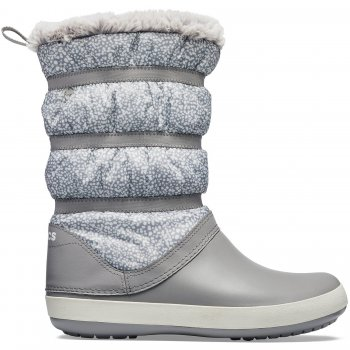 Crocs Сапоги Crocband Winter Boot (светло-серый) 2013 winter ann women wedge heel boot leather jackboot