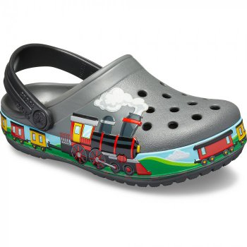 Crocs Сабо CrocsFL Train Band Clog (серый с принтом)