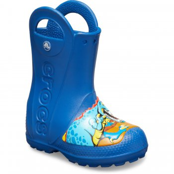Crocs Сапоги Crosfit dino Rain Boot Kids (синий)
