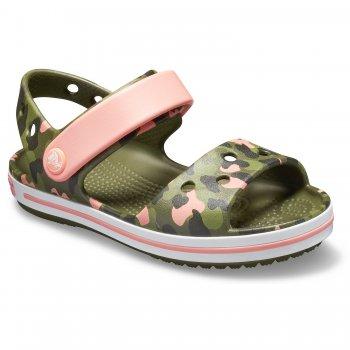 Crocs Сандалии Crocband SeasonalGraphic Sdl (камуфляж с розовым) c9