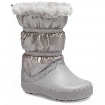 Crocs Сапоги LodgePoint Metallic Winter Boot (серебристый)