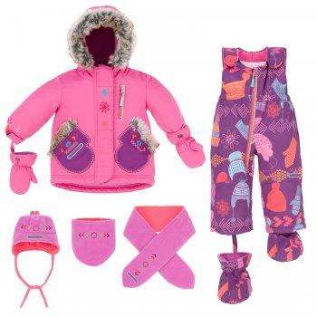 Комплект (фиолетовый с принтом) от Deux par Deux, арт: 36623 - Одежда