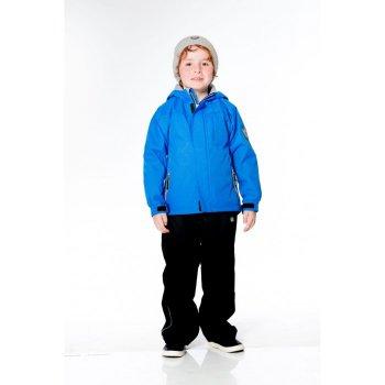 Комплект утепленный (голубой)Комбинезоны<br>Практичный утепленный комплект от Deux par Deux подходит для прогулок при температуре от -5 до +10 градусов. Небольшое количество функциональных элементов компенсируются привлекательной стоимостью. Мягкая, но в то же время прочная верхняя ткань защитит от воды, ветра и грязи, флисовая подкладка куртки даст дополнительный комфорт и тепло. Комплект идет в размер.<br> Функциональное описание: Куртка: капюшон не отстегивается, защитная планка молнии на липучке, защита подбородка от защемления, карманы на молнии, манжеты на липучке, светоотражающие элементы. Брюки: пояс на резинке, пояс регулируется с помощью липучки. <br> Производитель: Deux par Deux (Канада)<br> Страна производства: Китай<br> Коллекция: Весна/Лето 2017<br> Модель производится в размерах: 6-24 месяца и 2, 3, 4, 5, 6, 7, 8, 10. Размер означает возраст ребенка.<br>  <br> Верх: 100% полиэстер<br> Подкладка: Куртка: 100% полиэстер (флис), брюки: 65% полиэстер, 35% хлопок<br> Утеплитель: куртка: PolyFill 120 грамм (100% полиэстер), брюки: 60 грамм (100% полиэстер)<br> Водонепроницаемость: 3000 мм<br><br> Температурный режим <br> От -5 градусов и выше; Размеры в наличии: 2, 3, 4, 5, 6, 7, 8, 10, 18M, 24M.<br>