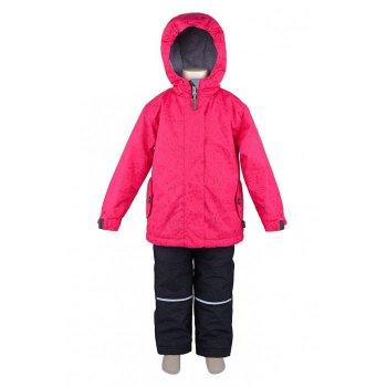Комплект утепленный (розовый с орнаментом)Комбинезоны<br>Яркий, поднимающий натсроение весенний комплект для девочек. Представлен в 4 очень красивых расцветках.С учетом температурного режима комплекта (от 0 градусов) в куртке предусмотрено разное количество утеплителя, в области тела 120 г, а в капюшоне, воротнике и рукавах - 60 г. Подкладка куртки сделана полностью из флиса, внутри есть удобный карман. В брюках 60 г утеплителя, подкладка с добавлением хлопка.  Лямки и пояс регулируются, что позволяет сделать брюки комфортными, если они приобретены для ребенка с запасом.Этот комплект точно оценит каждая девочка.<br><br>   Куртка: капюшон не отстегивается, защитная планка молнии на липучке, защита подбородка от защемления, карманы на молнии, внутренний карман на подкладке, манжеты на липучке, светоотражающие элементы. Брюки: регулируемые лямки, отстегивающиеся лямки, пояс на резинке регулируется липучками, передние карманы без застежки, задний карман на липучке.   Верх: Куртка: 100% полиэстер. Брюки: 100% полиэстер.<br> Утеплитель: Куртка: наполнитель PolyFill, тело – 120 гр., капюшон, воротник и рукава – 60 гр. Брюки: наполнитель PolyFill  - 60 гр.<br> Подкладка: Куртка: 100 % микрофлис (плотность 200 гр). Брюки: 65% полиэстер, 35% хлопок.<br> Водонепроницаемость:3000 мм<br> Производитель: Deux par Deux (Канада)<br> Страна производства: Китай<br> Модель производится в размерах: 6-24 месяца и 2, 3, 4, 5, 6, 7, 8, 10,12. Размер означает возраст ребенка.<br> Коллекция: Весна/Лето 2018<br><br> Температурный режим <br> От 0 градусов и выше<br><br>; Размеры в наличии: 2, 3, 3, 4, 4, 5, 5, 6, 6, 7, 7, 8, 8, 10, 12, 18M, 18M, 24M, 24M.<br>