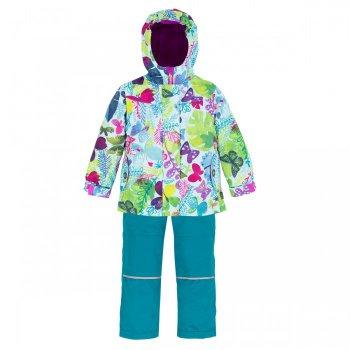 Комплект утепленный (голубой с бабочками)Комбинезоны<br>Яркий, поднимающий натсроение весенний комплект для девочек. Представлен в 4 очень красивых расцветках.С учетом температурного режима комплекта (от 0 градусов) в куртке предусмотрено разное количество утеплителя, в области тела 120 г, а в капюшоне, воротнике и рукавах - 60 г. Подкладка куртки сделана полностью из флиса, внутри есть удобный карман. В брюках 60 г утеплителя, подкладка с добавлением хлопка.  Лямки и пояс регулируются, что позволяет сделать брюки комфортными, если они приобретены для ребенка с запасом.Этот комплект точно оценит каждая девочка.<br><br>   Куртка: капюшон не отстегивается, защитная планка молнии на липучке, защита подбородка от защемления, карманы на молнии, внутренний карман на подкладке, манжеты на липучке, светоотражающие элементы. Брюки: регулируемые лямки, отстегивающиеся лямки, пояс на резинке регулируется липучками, передние карманы без застежки, задний карман на липучке.   Верх: Куртка: 100% полиэстер. Брюки: 100% полиэстер.<br> Утеплитель: Куртка: наполнитель PolyFill, тело – 120 гр., капюшон, воротник и рукава – 60 гр. Брюки: наполнитель PolyFill  - 60 гр.<br> Подкладка: Куртка: 100 % микрофлис (плотность 200 гр). Брюки: 65% полиэстер, 35% хлопок.<br> Водонепроницаемость:3000 мм<br> Производитель: Deux par Deux (Канада)<br> Страна производства: Китай<br> Модель производится в размерах: 6-24 месяца и 2, 3, 4, 5, 6, 7, 8, 10,12. Размер означает возраст ребенка.<br> Коллекция: Весна/Лето 2018<br><br> Температурный режим <br> От 0 градусов и выше<br><br>; Размеры в наличии: 2, 3, 4, 5, 6, 7, 8, 10, 12, 18M, 24M.<br>