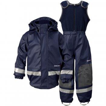 Комплект прорезиненный утепленный Boardman (морской бриз)Одежда<br>Материал<br>Верх: 100% полиуретан<br>Утеплитель: нет<br>Подкладка: 100% полиэстер<br>Водонепроницаемость: 8000мм.<br>Паропроводимость: нет данных<br>Износостойкость: нет данных<br>Описание<br>В дождезащитном утепленном костюме Boardman Вашему ребенку не страшны любые лужи. Костюм дополнительно утеплен флисом, что делает его просто незаменимым для межсезонья.<br>Функциональные элементы. Куртка: капюшон отстегивается, манжеты на резинке, защита подбородка от защемления, защитная планка на кнопках, подол присборен с помощью резинки, светоотражающие элементы. Полукомбинезон: верхняя часть из флиса, лямки регулируются с помощью липучек, усиленные вставки в области колен, подол штанин на резинке, трикотажные штрипки, светоотражающие элементы.<br>Производитель: Didriksons 1913 (Швеция).<br>Страна производства: Китай.<br>Коллекция Весна/Лето 2016<br>Модель производится в размерах 70-140<br>Температурный режим<br>От 0 градусов и выше.<br>; Размеры в наличии: 70, 80, 90, 100, 110, 120, 130, 140.<br>
