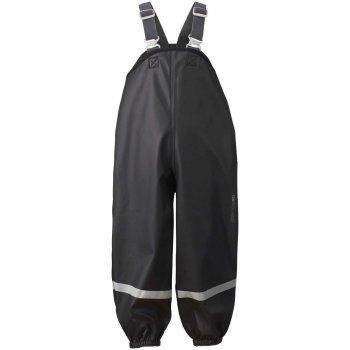 Брюки Plaskeman (черный)Одежда<br>Прорезиненный полукомбинезон без утеплителя для мокрой и грязной погоды. Такой полукомбинезон удобно носить поверх верхней одежды в весеннюю слякоть, а также одевать на прогулку по лужам или в лес после летнего дождя. Материал — полиуретан, растягивается в 4 направлениях. Удобные эластичные лямки позволяют отрегулировать брюки по росту ребенка, а две боковые кнопки - по ширине. Брюки дополнены трикотажными регулируемыми штрипками, которые надежно фиксируют штанинам на обуви, препятствуя попаданию влаги внутрь. Модель большемерит на 6-8 сантиметров.<br><br> Производитель: Didriksons 1913 (Швеция).<br> Страна производства: Китай.<br>   запаянные швы, регулируемые лямки, подол штанин на резинке, трикотажные штрипки, светоотражающие элементы. <br> 100% полиэстер, покрытие 100% полиуретан.<br> Подкладка: 100% полиэстер (трикотажная подкладка).<br> Утеплитель: нет.<br> Уровень влагонепроницаемости: 8000 мм (DRY-8) <br><br> Температурный режим <br> От +10 градусов и выше.<br>; Размеры в наличии: 80, 90, 100, 110, 120, 130, 140.<br>