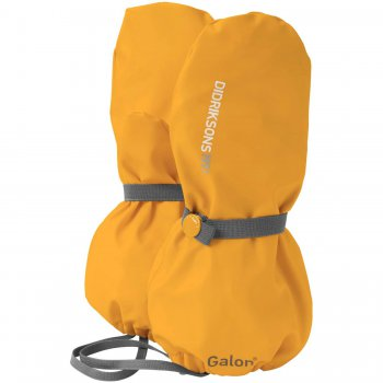 Рукавицы прорезиненные Glove (желтый)Одежда<br>Прорезиненные рукавицы - это идеальный выбор для прогулок в сырую погоду. В них вы можете не беспокоиться что ребенок захочет поковыряться в грязи, ведь его руки будут надежно защищены от влаги.Рукавицы без подкладки универсальны, в теплую погоду их можно одеть на голую руку (внутренняя поверхность ткани приятна к телу), а когда похолодает поверх любых перчаток или рукавиц.<br> Производитель: Didriksons 1913 (Швеция)<br> Страна производства: Китай<br> Коллекция Весна/Лето 2016<br> Модель производится в размерах 0-6<br>  <br> Верх: 100% полиуретан<br> Утеплитель: нет<br> Подкладка: нет<br> Водонепроницаемость: 8000мм, швы сварены<br> Износостойкость: нет данных<br><br> Температурный режим <br> от 0 до +10; Размеры в наличии: 0, 2, 4, 6.<br>