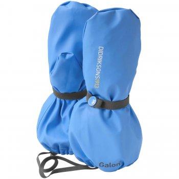 Рукавицы прорезиненные Glove (голубой)Одежда<br>Прорезиненные рукавицы - это идеальный выбор для прогулок в сырую погоду. В них вы можете не беспокоиться что ребенок захочет поковыряться в грязи, ведь его руки будут надежно защищены от влаги.Рукавицы без подкладки универсальны, в теплую погоду их можно одеть на голую руку (внутренняя поверхность ткани приятна к телу), а когда похолодает поверх любых перчаток или рукавиц.<br> Производитель: Didriksons 1913 (Швеция)<br> Страна производства: Китай<br> Коллекция Весна/Лето 2016<br> Модель производится в размерах 0-6<br>  <br> Верх: 100% полиуретан<br> Утеплитель: нет<br> Подкладка: нет<br> Водонепроницаемость: 8000мм, швы сварены<br> Износостойкость: нет данных<br><br> Температурный режим <br> от 0 до +10; Размеры в наличии: 0, 2, 4, 6.<br>