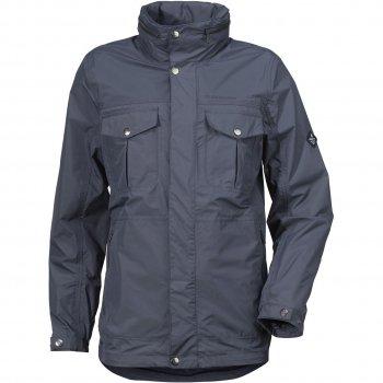 Куртка мужская ROBERT (темно-синий)Одежда<br>Материал<br>Верх: 100% полиамид<br>Утеплитель: нет<br>Подкладка: 100% полиэстер (сетка)<br>Водонепроницаемость: 8000 мм.<br>Паропроводимость: 4000 г/м2/24ч<br>Износостойкость: нет данных<br>Описание<br>Стильная мужская куртка дидриксонс из коллекции Urban. Одежда Didriksons 1913 надежно защищает от дождя и ветра благодаря запатентованной технологии Storm Sistem.  Модель отлично подойдет как для активного отдыха, так и для повседневной носки.<br>Функциональные элементы: капюшон не отстегивается, регулируется по объему, защитная планка молнии на кнопках, карманы на молнии, манжеты на кнопке, утяжка по подолу.<br>Производитель: Didriksons 1913 (Швеция).<br>Страна производства: Китай.<br>Коллекция Весна/Лето 2017<br>Модель производится в размерах S-XXХL<br>Температурный режим<br>От +10 градусов и выше.; Размеры в наличии: S, M, L, XL, XXL, XXXL.<br>