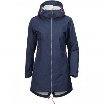 Куртка женская HILDE (морской бриз)Одежда<br>Материал<br>Верх:100% полиамид<br>Утеплитель: нет<br>Подкладка: 100% полиэстер (сетка)<br>Водонепроницаемость: 5000 мм.<br>Паропроводимость: 4000 г/м2/24ч<br>Износостойкость: нет данных<br>Описание<br>Удлиненная  женская куртка из водонепроницаемого и непродуваемого мембранного материала. Стильная модель без лишних деталей: двусторонняя фронтальная молния, регулируемые манжеты, талия, капюшон и низ изделия. <br>Функциональные элементы: капюшон не отстегивается, регулируется по объему, карманы на молнии, манжеты на липучке, утяжка на талии, утяжка по подолу. <br>Производитель: Didriksons 1913 (Швеция).<br>Страна производства: Китай.<br>Коллекция Весна/Лето 2017<br>Модель производится в размерах 34-46<br>Температурный режим<br>От +10 градусов и выше.; Размеры в наличии: 34, 36, 38, 40, 42.<br>