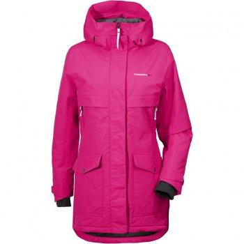 Куртка женская FRIDA (фуксия)Одежда<br>Материал: <br>Верх: 100% полиамид<br>Утеплитель: 180 грамм (100% полиэстер)<br>Подкладка: 100% полиэстер<br>Водонепроницаемость: 10000 мм<br>Паропроводимость: 4000 г/м2/24ч<br>Износостойкость: нет данных <br>Описание: <br>Зимняя куртка с приятной расцветкой от Didrirsons 1913 с отличными показателями водонепроницаемости и дыщащими свойствами ткани. Классическая степень утепления подойдет для активных прогулок на свежем воздухе. Отличная посадка в любом размере и доступная цена.<br>Функциональные элементы: капюшон не отстегивается, регулируется по объему, защитная планка молнии на кнопках, карманы на молнии и  на кнопках, манжеты на липучке, трикотажные  эластичные манжеты, утяжка на талии и по подолу. <br>Производитель: Didriksons 1913 (Швеция)<br>Страна производства: Китай<br>Модель производится в размерах 34-48<br>Коллекция: Осень/Зима 2017<br>Температурный режим<br>От -0 до -20 градусов; Размеры в наличии: 34, 36, 38.<br>