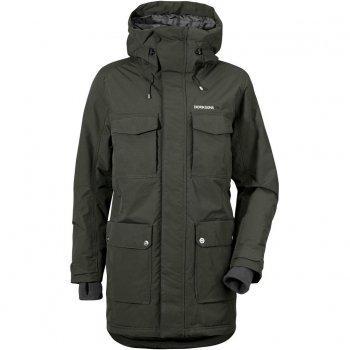 Куртка мужская DREW (темно-зеленый)Одежда<br>Материал<br>Верх: 100% полиамид<br>Утеплитель: 200 грамм (100% полиэстер)<br>Подкладка: 100% полиэстер<br>Водонепроницаемость: 10000 мм<br>Паропроводимость: 4000 г/м2/24ч<br>Износостойкость: нет данных <br>Описание<br>Зимняя куртка с приятной расцветкой от Didrirsons 1913 с отличными показателями водонепроницаемости и дыщащими свойствами ткани. Классическая степень утепления подойдет для активных прогулок на свежем воздухе. Отличная посадка в любом размере. <br>Функциональные элементы: Капюшон не отстегивается, регулируется по объему; защитная планка молнии на кнопках, защита подбородка от защемления, карманы на кнопках, трикотажные манжеты, утяжка на талии и по подолу. <br>Производитель: Didriksons 1913 (Швеция)<br>Страна производства: Китай<br>Модель производится в размерах S-XXXL<br>Коллекция: Осень/Зима 2017<br>Температурный режим<br>От -0 до -15 градусов; Размеры в наличии: XXXL, XXL, XL, L, M, S.<br>