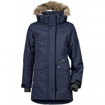Куртка для девушки ZOE PARKA (морской бриз)Куртки<br>Описание: <br>Зимняя куртка для девушки-подростка от  Didrirsons 1913 с приятными расцветками и отличной посадкой.  Оптимальные показатели водонепроницаемости не дадут промокнут под мокрым снегом, а 200 грамм утеплителя и меховая спинка сохраняют тепло.<br>Функциональные элементы: капюшон отстегивается с помощью кнопок, регулируется по объему, мех отстегивается, защитная планка молнии на липучке, меховая спинка, карманы на молнии, карманы на кнопках, манжеты на липучке, трикотажные манжеты, утяжка на талии, утяжка по подолу, светоотражающие элементы. <br>Характеристики: <br>Верх: 100% полиамид<br>Утеплитель: 200 г/м2 (полиэстер)<br>Подкладка: 100% полиэстер<br>Водонепроницаемость: 5 000 мм<br>Паропроводимость: 4 000 г/м2/24ч<br>Износостойкость: нет данных<br>Производитель: Didriksons 1913 (Швеция)<br>Страна производства: Китай <br>Модель производится в размерах 130-170<br>Коллекция: Осень/Зима 2017.<br>Температурный режим: <br>От 0 до -20 градусов<br>; Размеры в наличии: 140, 150, 160, 170.<br>