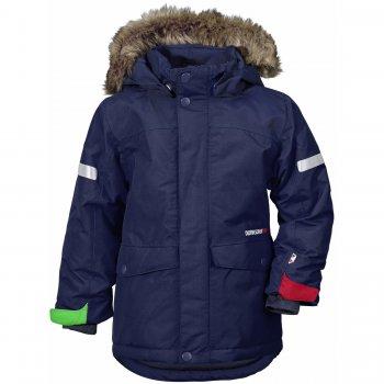 Куртка STORLIEN (морской бриз)Куртки<br>Описание<br>Зимняя куртка от  Didrirsons 1913 с яркими расцветками и отличной посадкой.  Высокие показатели водонепроницаемости не дадут промокнуть, а 180 грамм утеплителя сохранит тепло и комфорт. Увеличивающийся размер куртки позволит наслаждаться приятными зимними прогулками в ней не один сезон.<br>Функциональные элементы: капюшон отстегивается с помощью кнопок, регулируется по объему, мех отстегивается, защитная планка молнии на липучке, защита подбородка от защемления, карманы на кнопках, манжеты на липучке, трикотажные манжеты, снежная юбка, утяжка по подолу, светоотражающие элементы, система увеличения размера. <br>Характеристики<br>Верх: 100% полиамид<br>Утеплитель: 180 г/м2 (100% полиэстер)<br>Подкладка: 100% полиэстер<br>Водонепроницаемость: 10 000 мм<br>Паропроводимость: 4 000 г/м2/24ч<br>Износостойкость: нет данных<br>Производитель: Didriksons 1913 (Швеция)<br>Страна производства: Китай <br>Модель производится в размерах 80-140<br>Коллекция: Осень/Зима 2017<br>Температурный режим<br>От 0 до -20 градусов<br>; Размеры в наличии: 90, 100, 110, 120, 130, 140.<br>