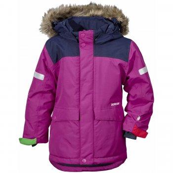 Куртка STORLIEN (сиреневый)Куртки<br>Зимняя куртка от  Didrirsons 1913 с яркими расцветками и отличной посадкой.  Высокие показатели водонепроницаемости не дадут промокнуть, а 180 грамм утеплителя сохранит тепло и комфорт. Увеличивающийся размер куртки позволит наслаждаться приятными зимними прогулками в ней не один сезон.<br><br>   капюшон отстегивается с помощью кнопок, регулируется по объему, мех отстегивается, защитная планка молнии на липучке, защита подбородка от защемления, карманы на кнопках, манжеты на липучке, трикотажные манжеты, снежная юбка, утяжка по подолу, светоотражающие элементы, система увеличения размера.  <br> Верх: 100% полиамид<br> Утеплитель: 180 г/м2 (100% полиэстер)<br> Подкладка: 100% полиэстер<br> Водонепроницаемость: 10 000 мм<br> Паропроводимость: 4 000 г/м2/24ч<br> Износостойкость: нет данных<br> Производитель: Didriksons 1913 (Швеция)<br> Страна производства: Китай <br> Модель производится в размерах 80-140<br> Коллекция: Осень/Зима 2017<br><br> Температурный режим <br> От 0 до -20 градусов<br>; Размеры в наличии: 100, 110, 120, 130, 140.<br>