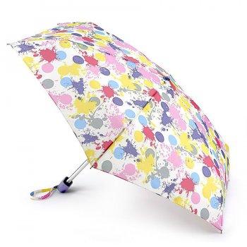 Зонт женский механика (горох красками)Одежда<br>Очень легкий, компактный и практичный зонт. Он рассчитан на одного человека. Интересный момент - в сложенном состоянии зонт принимает четырехгранную форму и компактно располагается в кармане, сумочке или даже дверке автомобиля! У зонта имеется чехол с дополнительной впитывающей подкладкой, который защитит одежду и сумку от влаги. Не смотря на небольшой вес и габариты, у зонта прочная ветроустойчивая конструкция.  Механизм зонта: механика.<br> Тип зонта: складной.<br> Количество сложений: 5<br> Количество спиц: 6<br> Длина в сложенном виде (см): 15<br> Диаметр купола (см): 85<br> Материал купола: полиэстер.<br> Материал ручки: софт тач.<br> Материал стержня: алюминий.<br> Вес (гр): 160<br> Производитель: Fulton (Великобритания).<br> Страна производства: Великобритания. ; Размеры в наличии: б/р.<br>