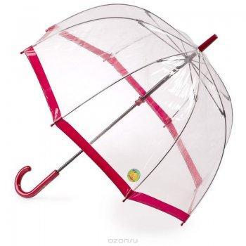 Зонт женский трость (бордовый)Одежда<br>Знаменитый зонт Fulton, который имеет солнцезащитную функцию! Помимо основной своей функции - защищать от дождя, он еще и защищает кожу лица от ультрафиолета. Это происходит благодаря  специальному покрытию купола зонта. Надпись UV protect, сообщающая об особенности модели, нанесена на купол, на рукоять и вытиснена на хлястике купола.   Механизм зонта: механика.<br> Тип зонта: трость.<br> Количество спиц: 8<br> Длина в сложенном виде (см): 88<br> Диаметр купола (см): 85<br> Материал купола: ПВХ.<br> Материал ручки: пластик.<br> Материал стержня: сталь.<br> Вес (гр): 520<br> Производитель: Fulton (Великобритания).<br> Страна производства: Великобритания. ; Размеры в наличии: б/р.<br>