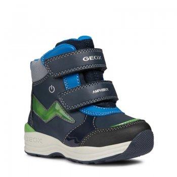 Geox Ботинки с огоньками New Gulp (синий с зеленым) geox ботинки с огоньками new gulp синий с зеленым