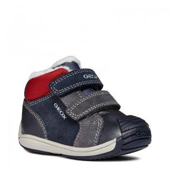 Geox Ботинки Toledo (синий с красным) geox ботинки с огоньками new gulp синий с зеленым