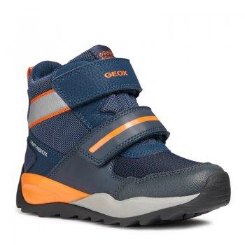 Geox Ботинки Orizont (синий с оранжевым) geox ботинки с огоньками new gulp синий с зеленым