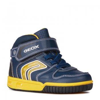 Geox Кроссовки с огоньками Gregg (синий с желтым) geox ботинки с огоньками new gulp синий с зеленым