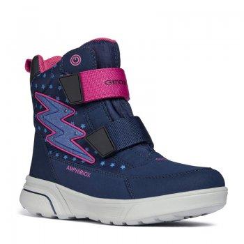 Geox Ботинки с огоньками Sveggen (синий с розовым) geox ботинки с огоньками new gulp синий с зеленым