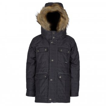 Парка Gusti Boutique (тёмно-серый)Куртки<br>Описание: <br>Зимняя куртка-парка для мальчиков. Верхняя «дышащая» мембранная ткань не пропускает снег и дождь и дополнительно обработана пропиткой DWR, что делает ее устойчивой к загрязнениям. Современный синтетический утеплитель сохраняет ребенка в тепле даже в сильные морозы. Подкладка куртки и внутренняя поверхность капюшона сделаны из мягкого флиса для дополнительной защиты от холода. Подкладка рукавов выполнена из гладкого полиэстера для удобства надевания. Капюшон с регулировкой по объему крепится на молнии и спереди застегивается на кнопки. Пушистая опушка из искусственного меха отлично защищает лицо от ветра и мороза. Молния закрыта ветрозащитной планкой. Трикотажные манжеты с прорезью для большого пальца служат для дополнительного утепления рук, внешние манжеты на резинке дополнительно регулируются с помощью липучек. Множество карманов для нужных мелочей. Лаконичный городской дизайн позволяет носить эту куртку с одеждой любого стиля. Светоотражающие элементы делают ребенка более заметным на дороге в темное время суток.<br>Функциональные элементы: капюшон отстегивается с помощью молнии, мех отстегивается, защитная планка на липучке, защита подбородка от защемления, карманы на липучке, трикотажные манжеты, утяжка на талии, светоотражающие элементы. <br>Характеристики<br>Верх: 100% полиэстер<br>Утеплитель:  куртка - 283 грамма, капюшон - 113 грамм<br>Подкладка: polar флис (100% полиэстер)<br>Водонепроницаемость: 5000 мм<br>Паропроводимость: 5000 г/м2/24 часа<br>Износостойкость: нет данных<br>Производитель: Gusti (Канада)<br>Страна производства: Китай <br>Модель производится в размерах  2-14. Размер обозначает возраст ребенка.<br>Коллекция: Осень/Зима 2017<br>Температурный режим: <br>От 0 до -30 градусов; Размеры в наличии: 7, 8, 10, 12, 14.<br>