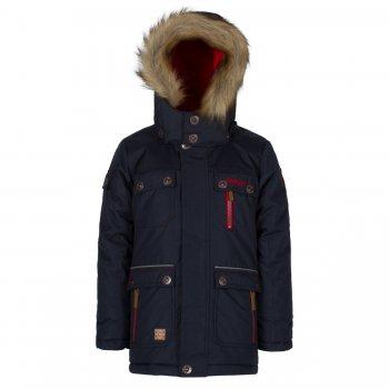 Парка Gusti Boutique (тёмно-синий)Куртки<br>Описание: <br>Зимняя куртка-парка для мальчиков. Верхняя «дышащая» мембранная ткань не пропускает снег и дождь и дополнительно обработана пропиткой DWR, что делает ее устойчивой к загрязнениям. Современный синтетический утеплитель сохраняет ребенка в тепле даже в сильные морозы. Подкладка куртки и внутренняя поверхность капюшона сделаны из мягкого флиса для дополнительной защиты от холода. Подкладка рукавов выполнена из гладкого полиэстера для удобства надевания. Капюшон с регулировкой по объему крепится на молнии и спереди застегивается на кнопки. Пушистая опушка из искусственного меха отлично защищает лицо от ветра и мороза. Молния закрыта ветрозащитной планкой, для максимальной теплоизоляции по низу куртки вшита внутренняя снежная юбка. Трикотажные манжеты с прорезью для большого пальца служат для дополнительного утепления рук, внешние манжеты на резинке дополнительно регулируются с помощью липучек. Множество карманов для нужных мелочей. Лаконичный городской дизайн позволяет носить эту куртку с одеждой любого стиля. Светоотражающие элементы делают ребенка более заметным на дороге в темное время суток.<br>Характеристики<br>Верх: 100% полиэстер<br>Утеплитель:  куртка - 283 грамма, капюшон - 113 грамм<br>Подкладка: polar флис (100% полиэстер)<br>Водонепроницаемость: 5000 мм<br>Паропроводимость: 5000 г/м2/24 часа<br>Износостойкость: нет данных<br>Производитель: Gusti (Канада)<br>Страна производства: Китай <br>Модель производится в размерах  2-14. Размер обозначает возраст ребенка.<br>Коллекция: Осень/Зима 2017<br>Температурный режим: <br>От 0 до -30 градусов; Размеры в наличии: 7, 8, 10, 12, 14.<br>