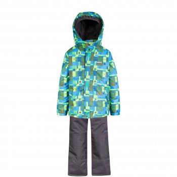 Комплект Gusti Zingaro (зеленый с животными)Комбинезоны<br>Теплый зимний костюм для мальчиков. Верхняя «дышащая» мембранная ткань не пропускает снег и влагу. Современный синтетический утеплитель сохраняет ребенка в тепле даже в сильные морозы. Специальная грязеотталкивающая пропитка ткани позволяет дольше обходиться без стирок. Высококачественная фурнитура и молнии YKK. Подкладка куртки на спинке и груди и внутренняя поверхность капюшона сделаны из мягкого флиса для дополнительной защиты от холода. Капюшон крепится на молнии и спереди застегивается на кнопки. Внутренняя эластичная тесьма капюшона защищает от продувания. Ветрозащитная планка молнии и внутренняя снежная юбка служат для максимальной теплоизоляции ребенка. Манжеты рукавов на резинках, дополнительно регулируются с помощью липучек. Боковые врезные карманы и внутренний кармашек для нужных мелочей. Полукомбинезон регулирующимися лямками и поясом на резинке хорошо садится по фигуре. В размерах до 4 лет включительно несъемная верхняя часть, а высокая спинка и грудка служит дополнительным слоем утепления под курткой, что особенно важно для маленьких детей. В размерах начиная с 5 лет – только высокая спинка, которая при необходимости отстегивается вместе с лямками. Задняя часть брюк, колени и нижний край штанин усилены вставками из особо прочной ткани Cordura Oxford, поэтому брюки выдерживают самую активную эксплуатацию. Внутренние гетры защищают ноги от снега и воды. Низ брюк можно подвернуть, зафиксировав на липучках, что позволяет носить комплект гораздо дольше.<br><br> Производитель: Gusti (Канада)<br> Страна производства: Китай <br> Модель производится в размерах: 12 месяцев-14 лет <br> Коллекция: Осень/Зима 2017<br>   Куртка: капюшон отстегивается с помощью молнии, защитная планка молнии на липучке, защита подбородка от защемления, карманы на липучке, трикотажные манжеты, снежная юбка, светоотражающие элементы. Брюки: регулируемые лямки, пояс на резинке поя, подол штанин регулируется липучкой, снежные гет