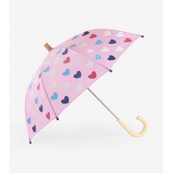 Hatley Зонт (нежно-розовый с сердцами) hatley сапоги резиновые белый с сердцами