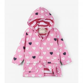 Hatley Плащ (нежно-розовый с сердцами) hatley сапоги резиновые белый с сердцами